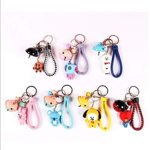 Bts21 keychains (koya, mang, rj, tata and Cooky)